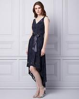 Le Château Burnout Lace V-Neck Gown
