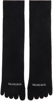 Balenciaga Black Logo Toe Socks