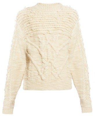 Etoile Isabel Marant Ryder Wool Cable-knit Sweater - Womens - Ivory