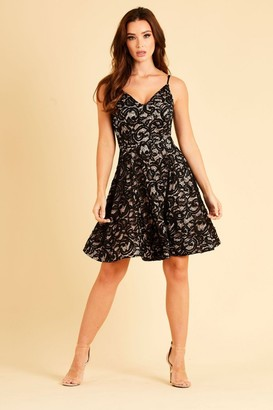 Skirt & Stiletto Bonded lace with sequin skater dress