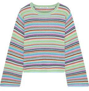 Autumn Cashmere Striped Ribbed Cashmere Top
