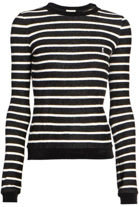 Saint Laurent Long-Sleeve Striped T-Shirt