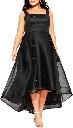 City Chic Embellished High/Low Gown