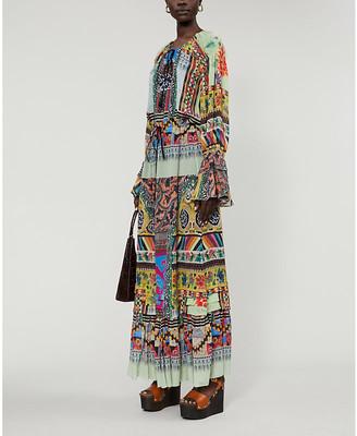 Etro Abito Edera silk maxi dress