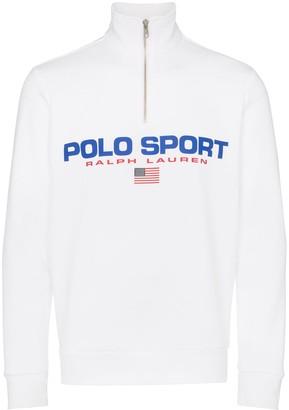 Polo Ralph Lauren Neon logo fleece sweatshirt