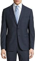 Neiman Marcus Dot-Print Two-Piece Suit, Navy