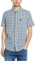 Voi Jeans Men's DOCK Slim Fit Short Sleeve Casual Shirt
