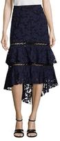 Prabal Gurung Lace Tiered Skirt