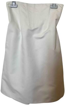 La Perla White Cotton Skirt for Women