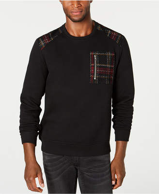 INC International Concepts Inc Men Mesh Trim Sweater