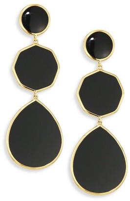 Ippolita Polished Rock Candy Black Onyx & 18K Yellow Gold Crazy 8s Drop Earrings