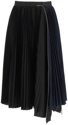 Sacai Pleated Asymmetric Skirt