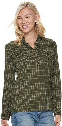 Sonoma Goods For Life Women's Side-Button Gauze Shirt