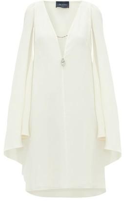 Julie De Libran - Bluebird Cape Sleeve Silk Crepe Dress - Womens - White
