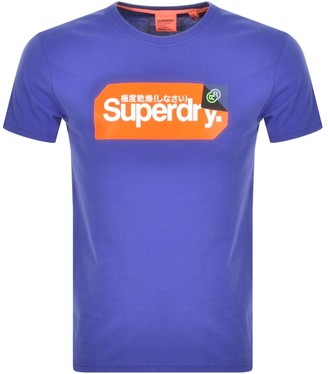 Superdry Core Logo Short Sleeved T Shirt Blue