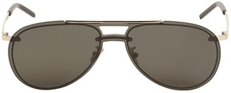 Saint Laurent Sl 416 Aviator Metal Sunglasses