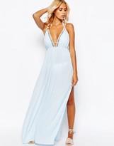 Asos Lattice V Neck Maxi Beach Dress