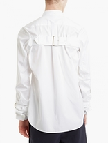 Comme Des Garcons Shirt White Buckle Style Shirt