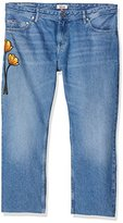 Tommy Hilfiger Girl's Straight Cropped Lana Embroidered Bmbr Jeans