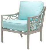 The Well Appointed House Manhattan Outdoor Lounge Chair with Cushion-Available in a Variety of Finishes