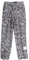 Thom Browne Leaf Print Silk-Blend Pants