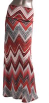 2LUV Women'sMulticolored Mix Print High Waisted Maxi Skirt XL (ASK-9001PS-G44)