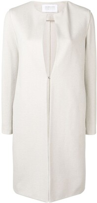 Harris Wharf London Collarless Mid-Length Coat