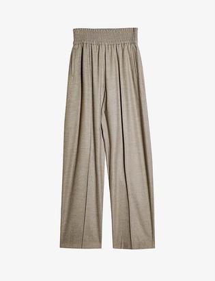Topshop Dixie high-rise straight-leg trousers