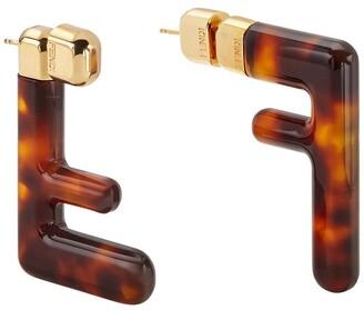 Fendi FF motif earrings