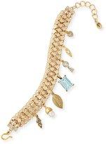 Sequin Mesh Link Charm Bracelet