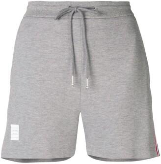 Thom Browne Rwb Stripe Pique Shorts