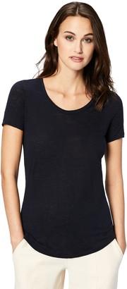 Daily Ritual Amazon Brand Women's 100% Linen Short-Sleeve Scoop Neck T-Shirt