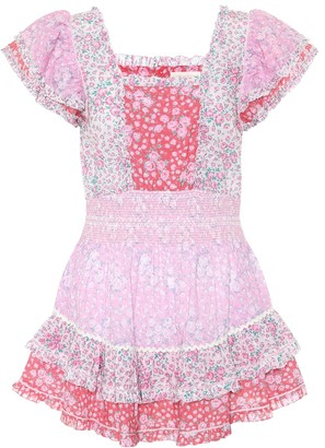 LoveShackFancy Stanton floral cotton minidress