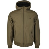 Fred Perry Hooded Brentham Jacket Green