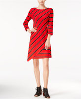 Kensie Striped Asymmetrical Dress
