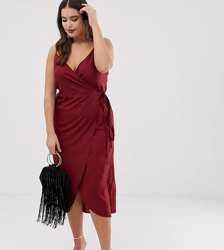 Asos DESIGN Curve cami wrap maxi dress
