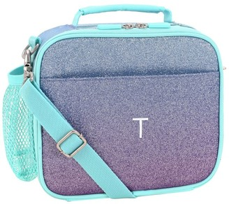 Pottery Barn Teen Gear-Up Purple/Pool Ombre Glitter Recycled Lunch Box