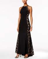 Xscape Evenings Illusion Halter Gown