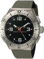 Momentum Men's 'Format 4' Swiss Quartz Titanium and Canvas Diving Watch, Color:Green (Model: 1M-SP24B6G)