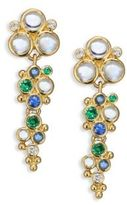 Temple St. Clair Mare Diamond, Royal Blue Moonstone, Blue Sapphire, Tsavorite & 18K Yellow Gold Drop Earrings