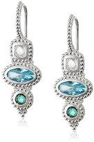 Judith Ripka Harmony 3 Stone Drop Earrings on Wire - Seaside