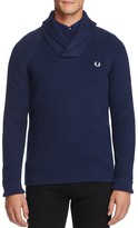 Fred Perry Rib Knit Shawl Collar Sweater