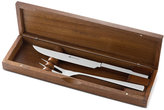 Wusthof 2 Piece Stainless Carving Set with Walnut Box