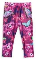 Girl's Butterfly Print Leggings