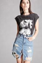 Forever 21 Distressed Denim Mini Skirt