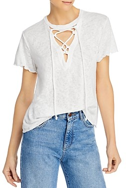 LnA Burke Lace-Up Tee