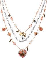 Betsey Johnson Vintage Heart Illusion Necklace