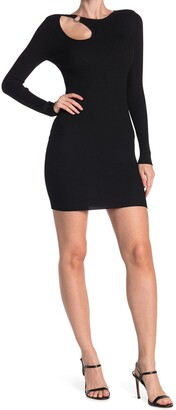 Planet Gold Long Sleeve Ribbed Bodycon Dress
