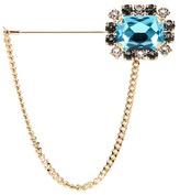 Dolce & Gabbana Crystal Embellished Gold-tone Brooch