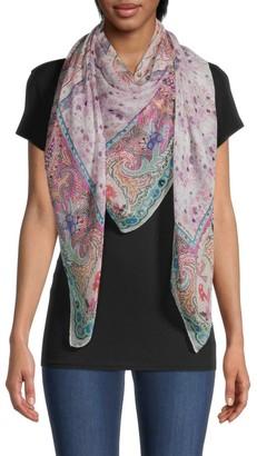 Etro Paisley Floral Silk Scarf